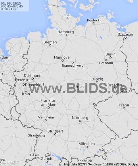 Blitze über Deutschland