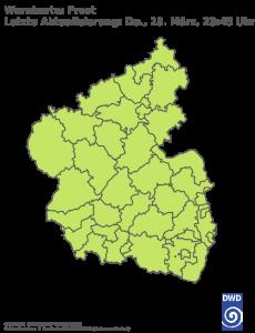 Unwetterwarnung Frost in Rheinland-Pfalz-Saarland