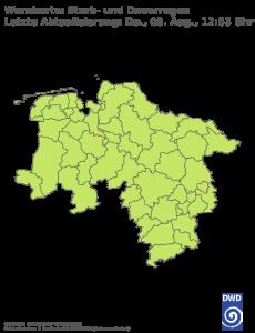 Unwetterwarnung Niedersachsen-Bremen für Regen
