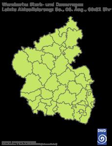 Unwetterwarnung Rheinland-Pfalz-Saarland für Regen