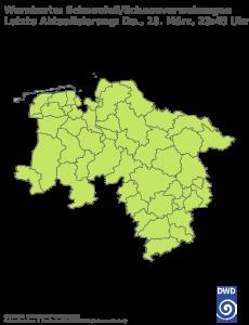 Unwetterwarnung Schneefall in Niedersachsen-Bremen