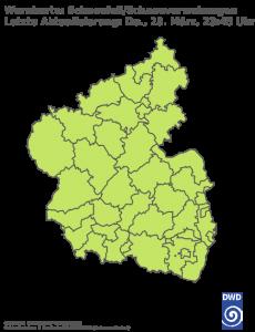 Unwetterwarnung Schneefall in Rheinland-Pfalz-Saarland