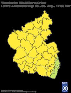 Unwetterwarnung für Sturm in Rheinland-Pfalz-Saarland