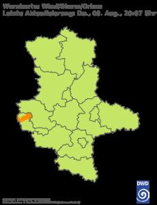 Unwetterwarnung für Sturm in Sachsen-Anhalt