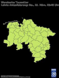 Unwetterwarnung Tauwetter in Niedersachsen-Bremen