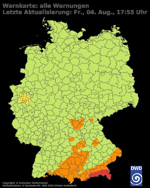 Unwetterwarnung Deutschland