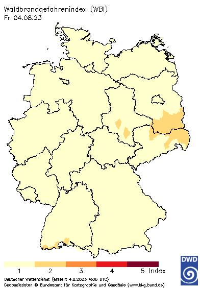 Waldbrandwarnungen Deutschland